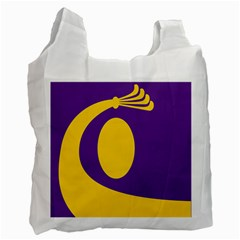 Flag Purple Yellow Circle Recycle Bag (One Side)