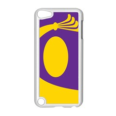 Flag Purple Yellow Circle Apple iPod Touch 5 Case (White)