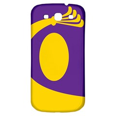 Flag Purple Yellow Circle Samsung Galaxy S3 S III Classic Hardshell Back Case