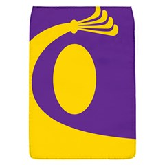 Flag Purple Yellow Circle Flap Covers (S)
