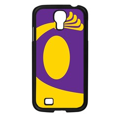 Flag Purple Yellow Circle Samsung Galaxy S4 I9500/ I9505 Case (Black)