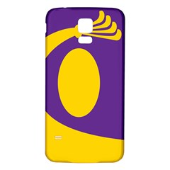 Flag Purple Yellow Circle Samsung Galaxy S5 Back Case (White)