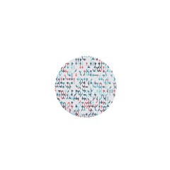 Connect Dots Color Rainbow Blue Red Circle Line 1  Mini Magnets