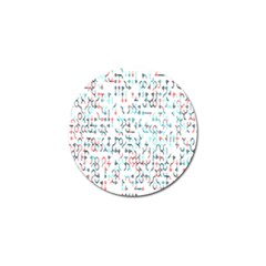 Connect Dots Color Rainbow Blue Red Circle Line Golf Ball Marker
