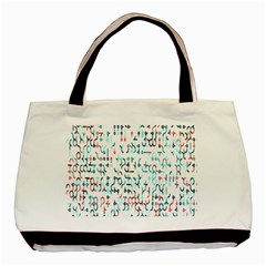 Connect Dots Color Rainbow Blue Red Circle Line Basic Tote Bag