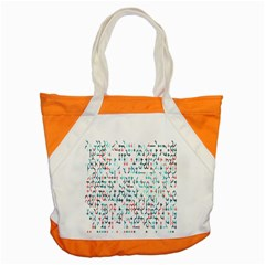 Connect Dots Color Rainbow Blue Red Circle Line Accent Tote Bag
