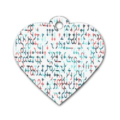 Connect Dots Color Rainbow Blue Red Circle Line Dog Tag Heart (Two Sides)