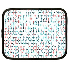 Connect Dots Color Rainbow Blue Red Circle Line Netbook Case (XL)
