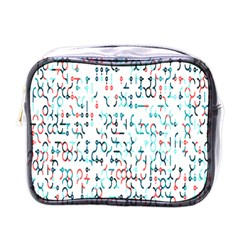 Connect Dots Color Rainbow Blue Red Circle Line Mini Toiletries Bags