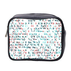Connect Dots Color Rainbow Blue Red Circle Line Mini Toiletries Bag 2-Side