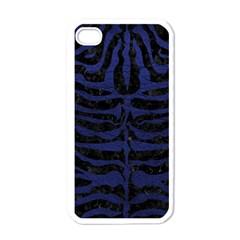 SKN2 BK-MRBL BL-LTHR Apple iPhone 4 Case (White)