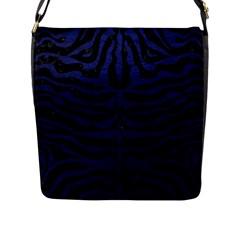 SKN2 BK-MRBL BL-LTHR Flap Messenger Bag (L)