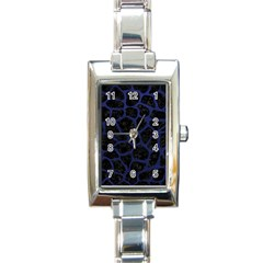 SKN1 BK-MRBL BL-LTHR (R) Rectangle Italian Charm Watch