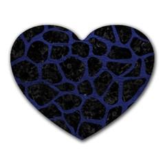 SKN1 BK-MRBL BL-LTHR (R) Heart Mousepads
