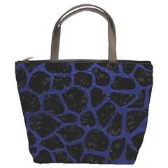 SKN1 BK-MRBL BL-LTHR (R) Bucket Bags