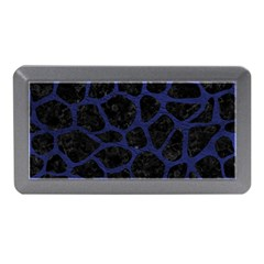 Skin1 Black Marble & Blue Leather (r) Memory Card Reader (mini)