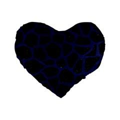 SKN1 BK-MRBL BL-LTHR (R) Standard 16  Premium Heart Shape Cushions