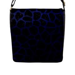 SKN1 BK-MRBL BL-LTHR (R) Flap Messenger Bag (L)