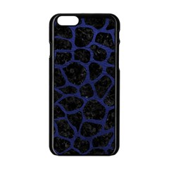 SKN1 BK-MRBL BL-LTHR (R) Apple iPhone 6/6S Black Enamel Case