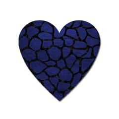 SKN1 BK-MRBL BL-LTHR Heart Magnet