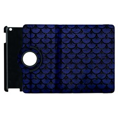 SCA3 BK-MRBL BL-LTHR (R) Apple iPad 3/4 Flip 360 Case