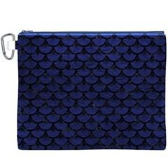 SCA3 BK-MRBL BL-LTHR (R) Canvas Cosmetic Bag (XXXL)