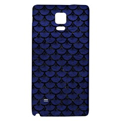 SCA3 BK-MRBL BL-LTHR (R) Galaxy Note 4 Back Case