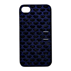 SCA3 BK-MRBL BL-LTHR Apple iPhone 4/4S Hardshell Case with Stand