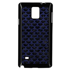 SCA3 BK-MRBL BL-LTHR Samsung Galaxy Note 4 Case (Black)