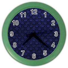 SCA2 BK-MRBL BL-LTHR (R) Color Wall Clocks