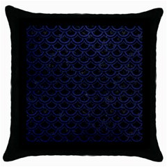 SCA2 BK-MRBL BL-LTHR Throw Pillow Case (Black)