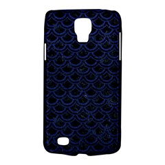 Scales2 Black Marble & Blue Leather Samsung Galaxy S4 Active (i9295) Hardshell Case