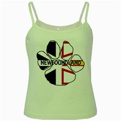 Newfoundland And Labrador Flag Name Paw Green Spaghetti Tank