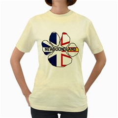 Newfoundland And Labrador Flag Name Paw Women s Yellow T-Shirt