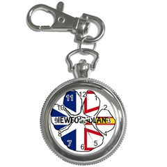 Newfoundland And Labrador Flag Name Paw Key Chain Watches