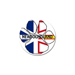 Newfoundland And Labrador Flag Name Paw Golf Ball Marker