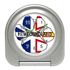 Newfoundland And Labrador Flag Name Paw Travel Alarm Clocks
