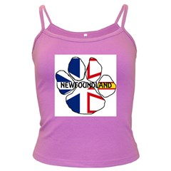 Newfoundland And Labrador Flag Name Paw Dark Spaghetti Tank