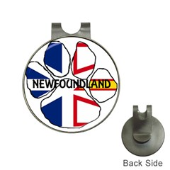 Newfoundland And Labrador Flag Name Paw Hat Clips with Golf Markers