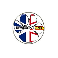 Newfoundland And Labrador Flag Name Paw Hat Clip Ball Marker (4 pack)