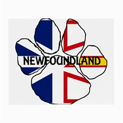 Newfoundland And Labrador Flag Name Paw Small Glasses Cloth