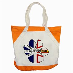 Newfoundland And Labrador Flag Name Paw Accent Tote Bag