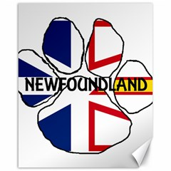 Newfoundland And Labrador Flag Name Paw Canvas 16  x 20