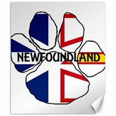 Newfoundland And Labrador Flag Name Paw Canvas 20  x 24