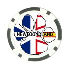Newfoundland And Labrador Flag Name Paw Poker Chip Card Guard