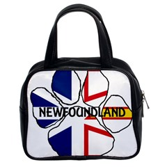Newfoundland And Labrador Flag Name Paw Classic Handbags (2 Sides)