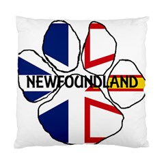 Newfoundland And Labrador Flag Name Paw Standard Cushion Case (One Side)