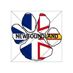 Newfoundland And Labrador Flag Name Paw Acrylic Tangram Puzzle (4  x 4 )