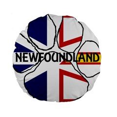 Newfoundland And Labrador Flag Name Paw Standard 15  Premium Round Cushions