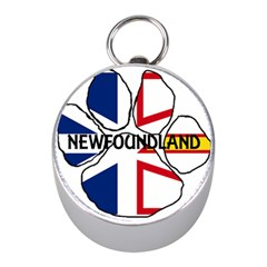 Newfoundland And Labrador Flag Name Paw Mini Silver Compasses